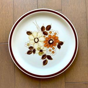 Vintage Floral Genuine Stoneware Plate